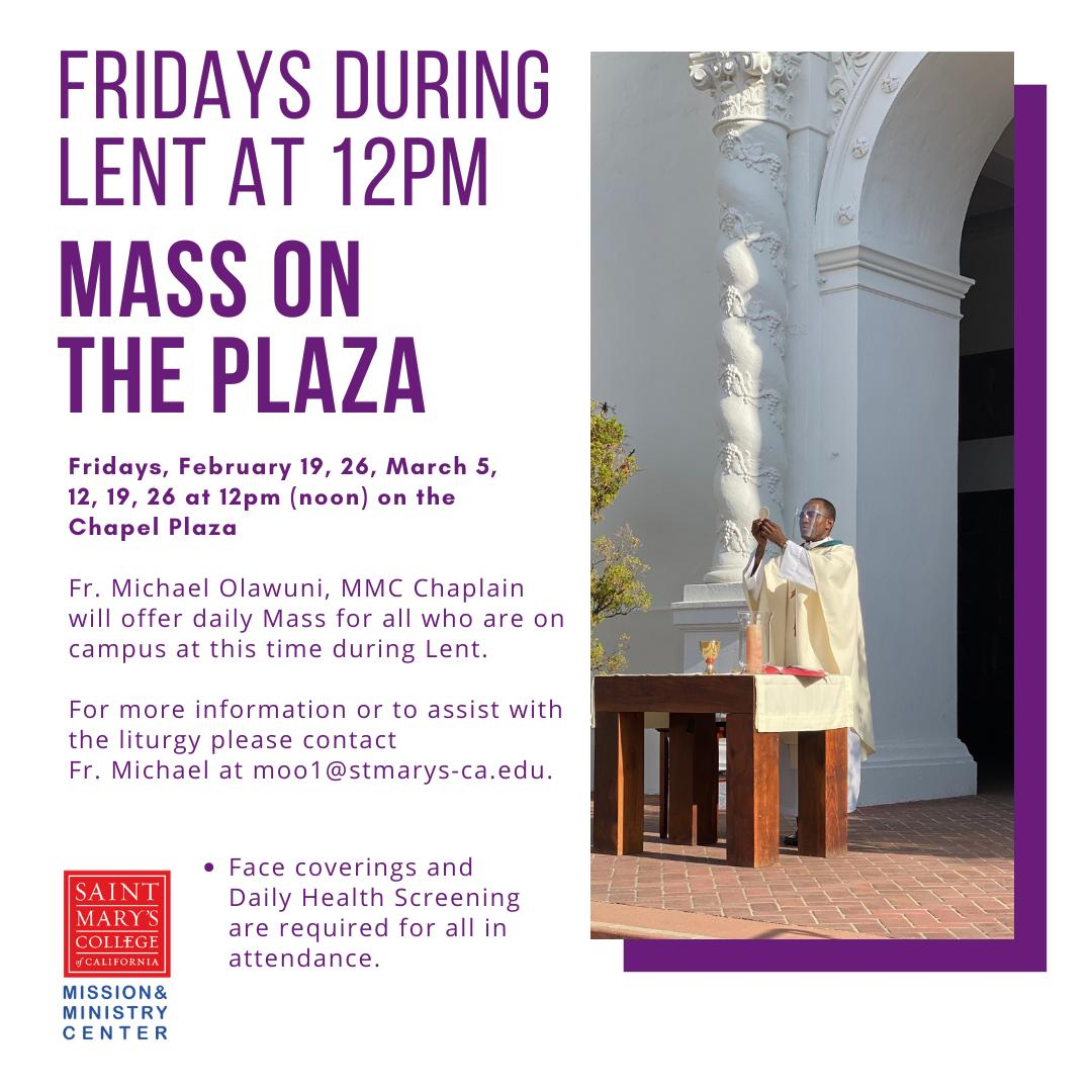 Mass on the Plaza during Lent thumbnail