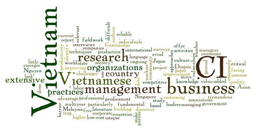 Phuong Anh Nguyen, Assistant Professor Business Administration School of Economics and Business Administration  Nguyen, P. A., & Robinson, A. G. (2010). Managing Continuous Improvement in Vietnam: Unique Challenges and Approaches to Overcome Them. The Quality Management Journal, 17(2), 27–41.
