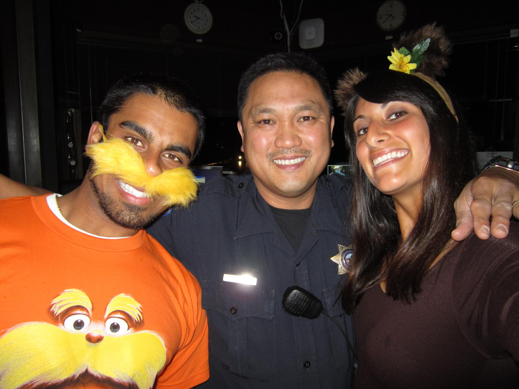 "Rian Singh, who submitted this photo, describes it as, ""The Lorax, best SMC P-safe, & Barbaloot Bear."""