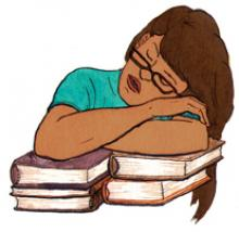 student napping