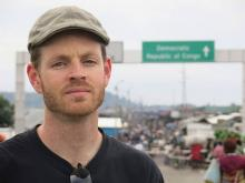 Ryan at the Rwanda / DRC border in January 2014.