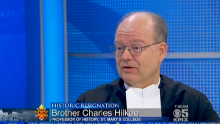 Brother Charles discusses Pope Benedict XVI's historic resignation on CBS-5's Sunday morning news show on Feb. 17,2013.