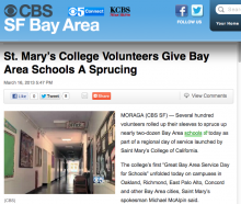 Bay City News - KPIX-TV/CBS-5 web story about the Great bay Area Service Day for Schools