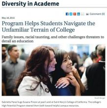 Chronicle of Higher Education story on SMC's High Potential Program.