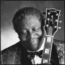Collopy began photographing musicians like B.B. King (above and left) even before he graduated from Saint Mary's. His portrait of the blues guitarist's hands is one of Collopy's studies of hands that speak volumes.