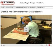 Effective Job Search for People with Disabilities - Video