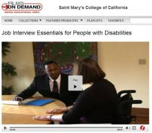 Job Interview Essentials for People with Disabilities - Video