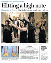 Contra Costa story on SMC's Chamber Singers