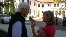 SMC President Jim Donahue discusses Weekend of Welcome with KGO News Radio's Leslie Brinkley