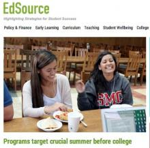 EdSource Today photo of HP first year students Lilie Hau '18 and Shae-Li Villarreal '18.