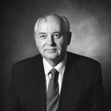 Former Soviet leader Mikhail Gorbachev is among the world leaders who have posed for the photographer.