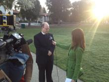 Brother Charles Hilken speaks with KTVU's Cara Liu about the election of Argentinian Cardinal Jorge Mario Bergoglio as the new pontif Pope Francis.
