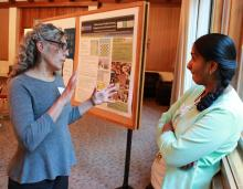 LMU biology professor Carolyn Viviano discusses science and civic engagement with Saint Mary's biology professor Vidya Chandrasekaran.
