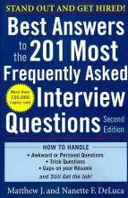 Best Answers to the 201 Most Frequently Asked Interview Questions cover