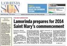 Lamorinda Sun article on 2014 commencement