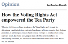Screen shot of SF Chronicle op-ed by Steve Woolpert