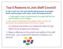 5 reasons to join Staff Council...