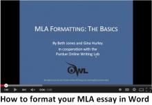 How to format your MLA essay in Word video