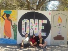 Mural to raise awareness of energy poverty in Sub-Saharan Africa by SMC students sophomore Shubhi Badjatiya and juniors Gabrielle Patterson and Sydney Purkey.</body></html>