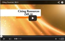 Citing Resources in MLA Style