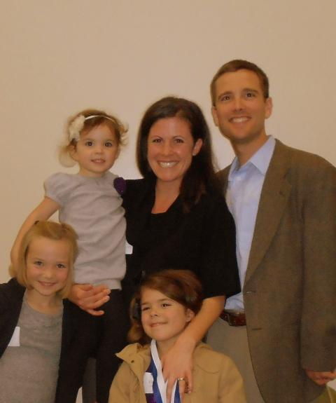 Katie (Harrington) Lovejoy '01 and family