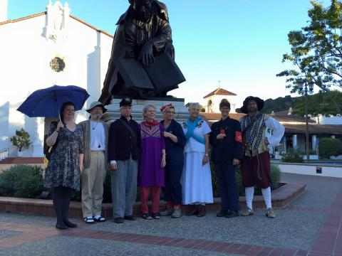 Fall 2015: Faculty celebrate the Halloween season in historical costumes!