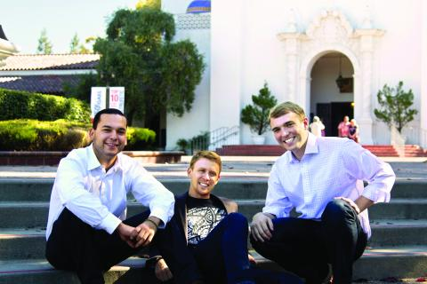 Andrew Sauer '12, Jose Flores '12 and Stephen O'Malley '12