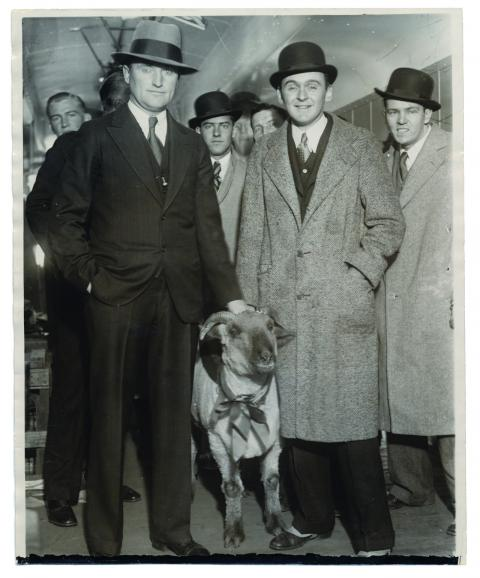 Slip Madigan and the goat from Fordham