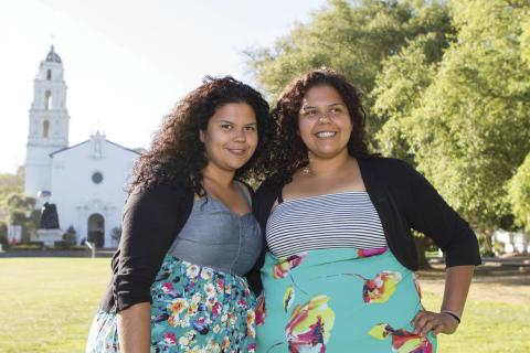 Helping Hands: Jessica and Yadira Beltran put their values to work at SMC and beyond.