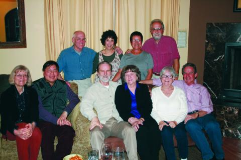Rod Arita '66 and wife Rita, Steve Buccola '66 and wife Amy, and Hugh Ming Lee '66 and Karen Hammerlof