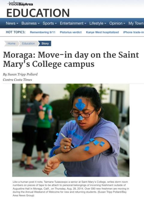 CC Times Photo of Move In Day at SMC