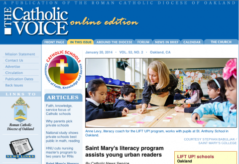 Catholic Voice story on LIFT UP