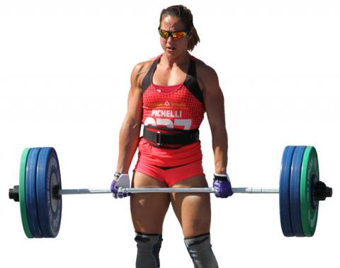 Alessandra Pichelli lifting weights.