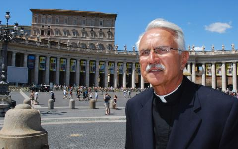 Fr. Michael Russo during a recent visit to Rome.