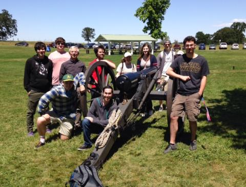 Spring 2016: Carl Guarneri's HIST-104 students attended a Civil War Reenactment as part of their course.