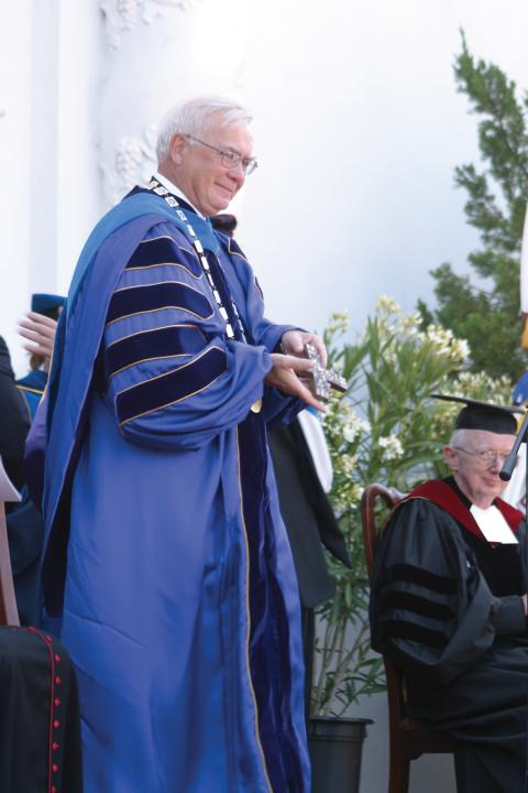 Brother Ron's inauguration in 2005.