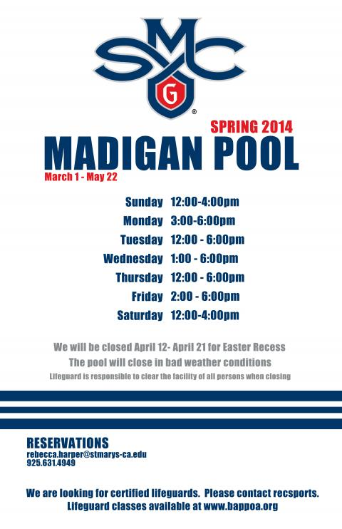 Madigan Pool Hours