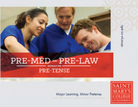 """Branding Campaign Ad"""" Pre-Med and Pre-Law Without the Pre-Tense"""