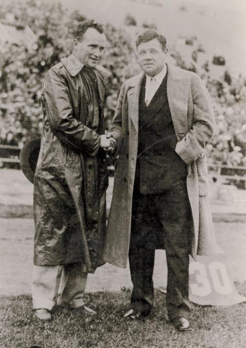 Slip Madigan and Babe Ruth