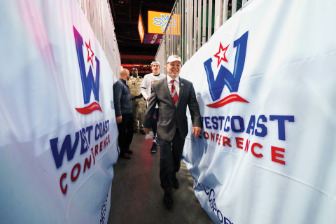 Coach Bennett. WCC Conference 2019.