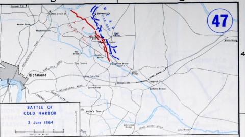 Cold Harbor battle map