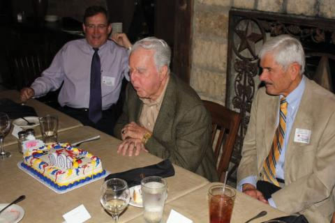 Clay McElroy recently celebrated his 100th birthday at a party in Texas thrown by his long-term employer, Chevron.