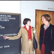 Kathy Crane and Sharon Gegg in 1997