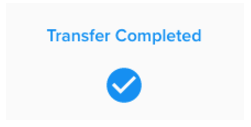 transfer completed