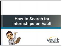 Link to how to search for internships on vault video