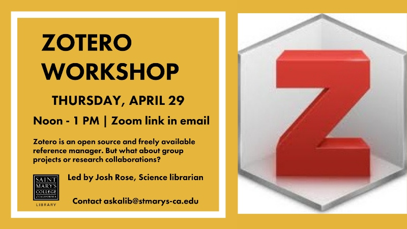 poster of Zotero workshop
